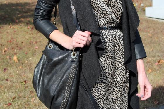 Cheetah Print Shift & Draped Jacket