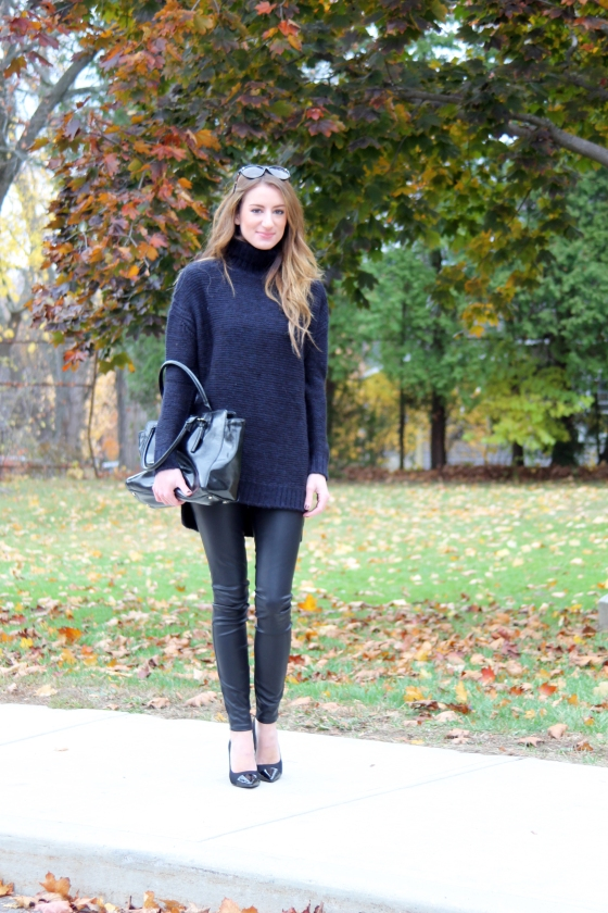 {Styling Faux Leather Leggings} Look no. 3 | Plum Pearls