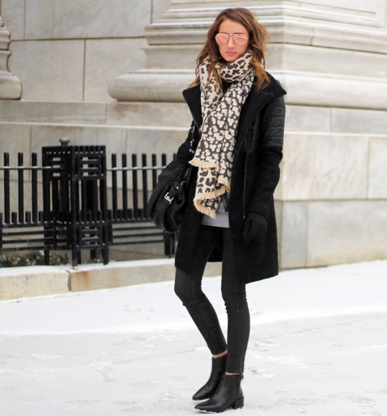 {Sporty Coat + Leopard Scarf} | Plum Pearls