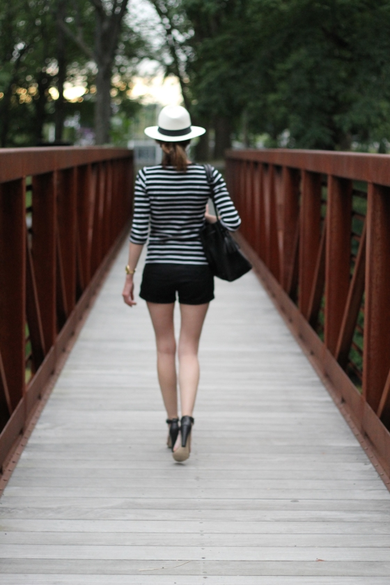Panama Hat / Classic Stripes // Leather Accessories :: Plum Pearls